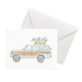 Sara Fitz Sara Fitz Box of 8 Cards - Seersucker Wagoneer