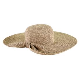 San Diego Hat Company Floppy Ultrabraid Hat - Gathered Back - Natural
