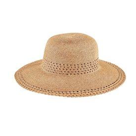 San Diego Hat Company Ultrabraid Sun Hat - Striped Open Weave
