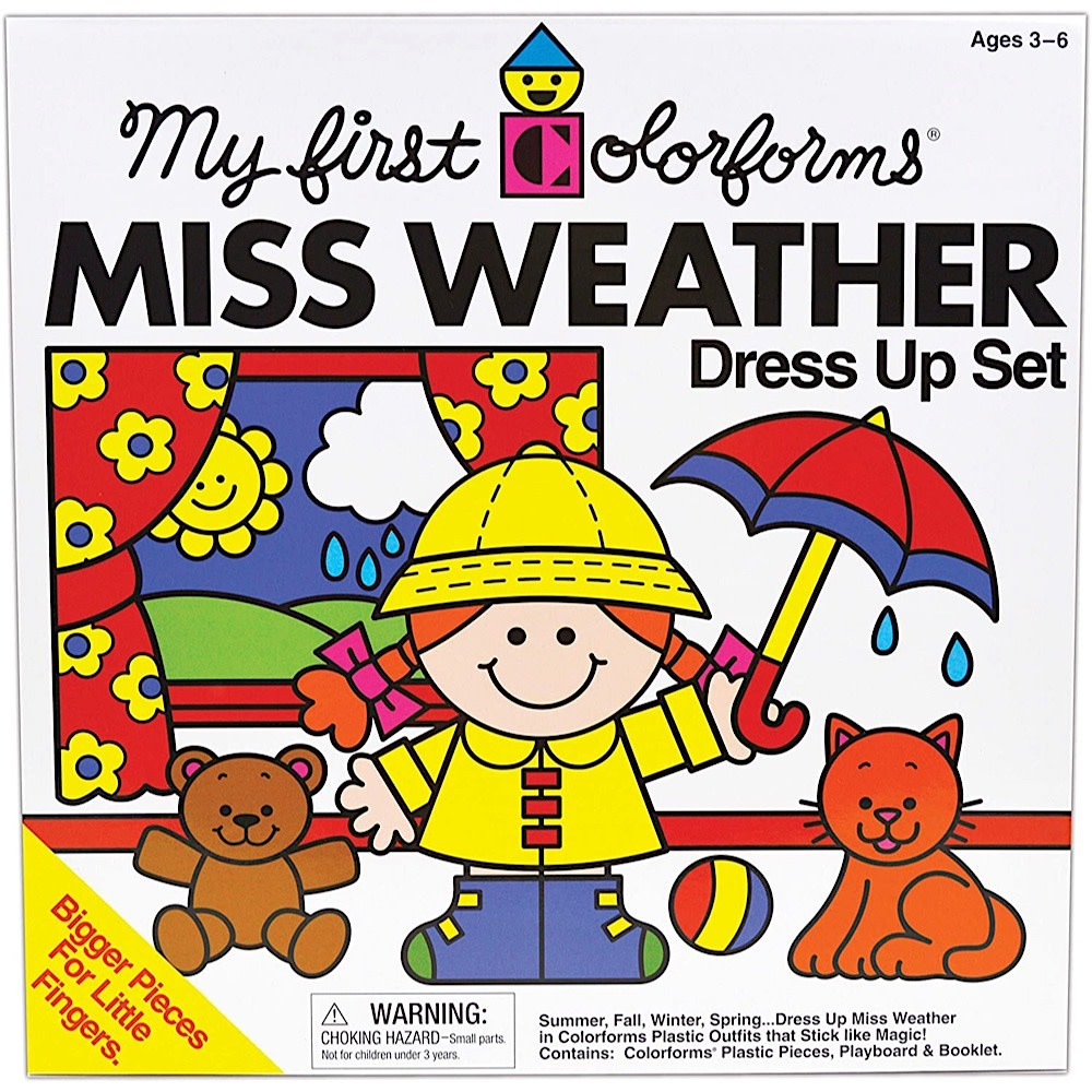Kid O Products Classic Colorforms - Miss Weather
