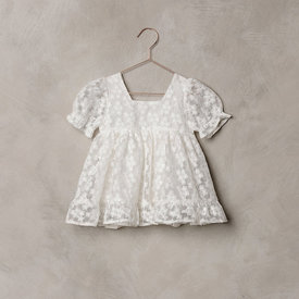 Noralee Noralee Quinn Dress Embroidered Organza - Ivory