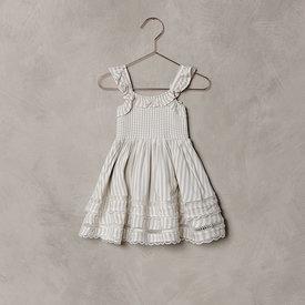 Noralee Noralee Birdie Dress Antoinette Stripe - Ivory/Blue