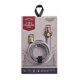 Wild & Wolf Gentlemen's Hardware 3 In 1 Charging Cable