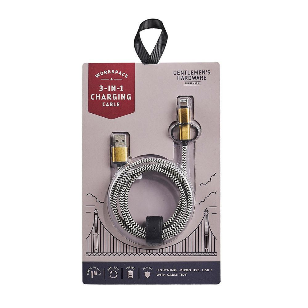 Gentlemen's Hardware 3 In 1 Charging Cable
