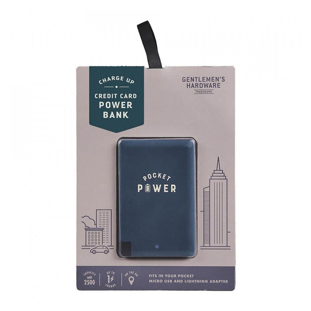 Gentlemen's Hardware Power Bank - Credit Card Size