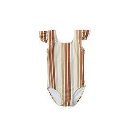 Rylee + Cru Rylee + Cru Frill Onepiece - Multi Stripe