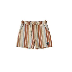 Rylee + Cru Rylee + Cru Long Swim Trunk - Multi Stripe