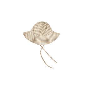 Rylee + Cru Rylee + Cru Striped Floppy Sun Hat - Almond