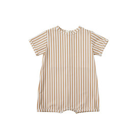 Rylee + Cru Rylee + Cru Striped Shorty Onepiece - Almond