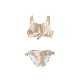 Rylee + Cru Rylee + Cru Striped Knotted 2 Piece Swimsuit - Almond