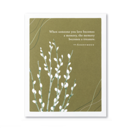 Compendium Sympathy Card - When Someone You Love Becomes A Memory