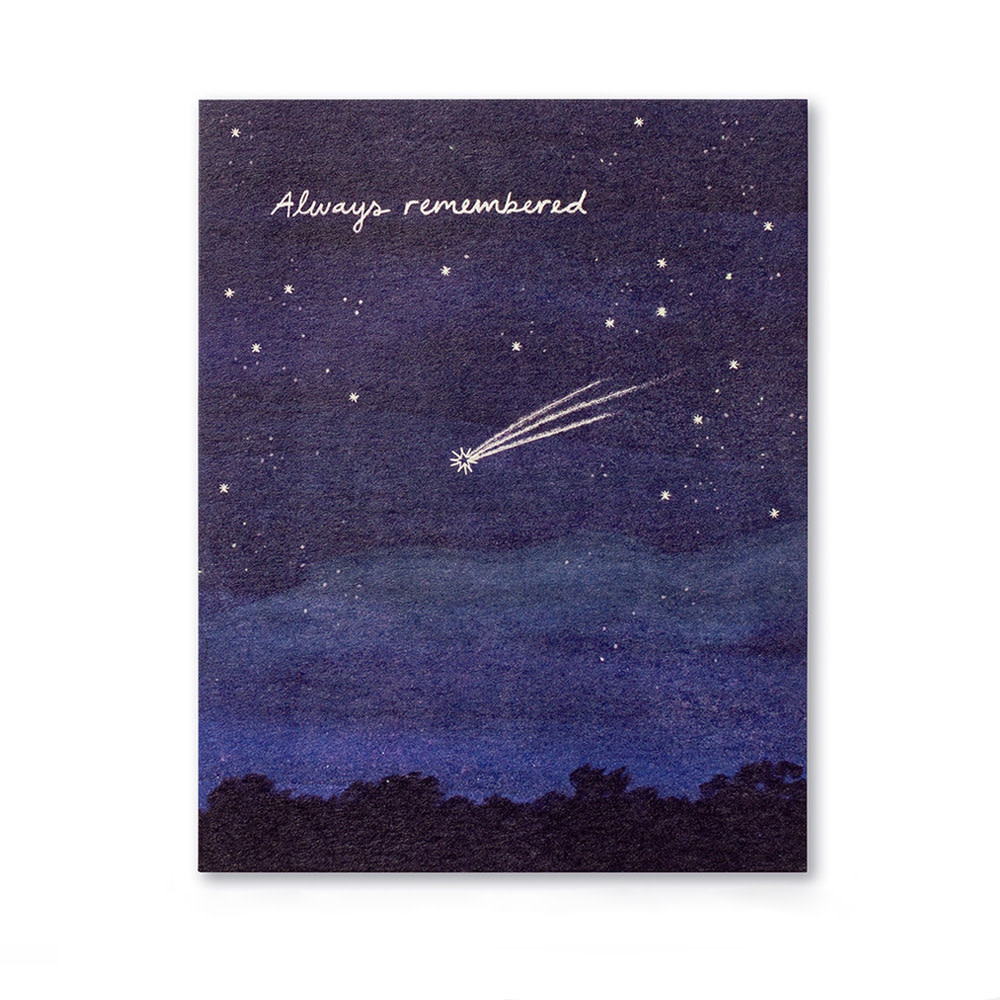 Compendium Sympathy Card - Always remembered