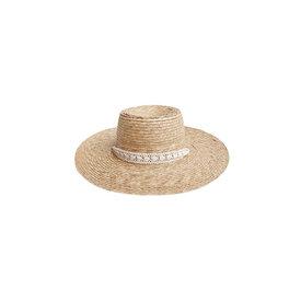 Rylee + Cru Rylee + Cru Ribbon Wide Brim Hat - 51cm
