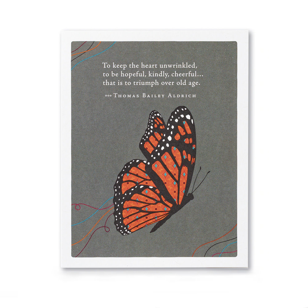 Compendium Birthday Card - To keep the heart unwrinkled