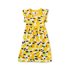 Tea Collection Tea Collection Wrap Neck Dress - Algarve Citrus