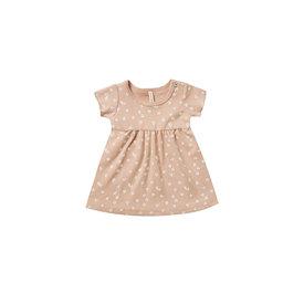 Quincy Mae Quincy Mae Short Sleeve Baby Dress - Blossom Petal
