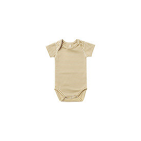 Quincy Mae Quincy Mae Short Sleeve Onepiece - Gold Stripe