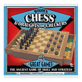 House of Marbles Chess & Checkers Set