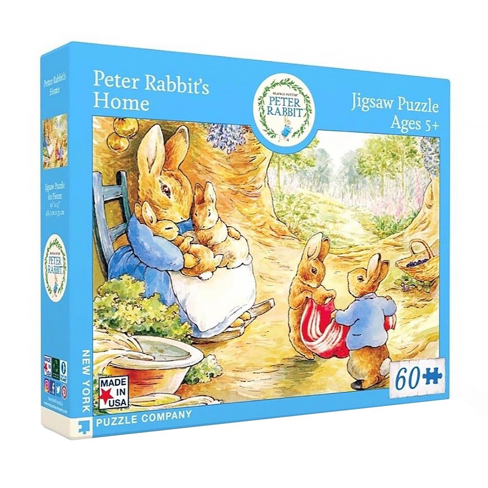 New York Puzzle Co. New York Puzzle Co - Peter Rabbit's Home - 60 Piece Jigsaw Puzzle