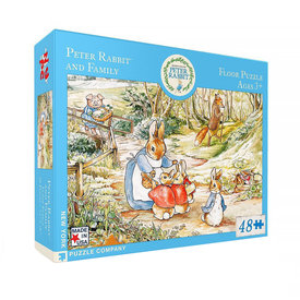 New York Puzzle Co. New York Puzzle Co - Peter Rabbit & Family - 48 Piece Jigsaw Puzzle