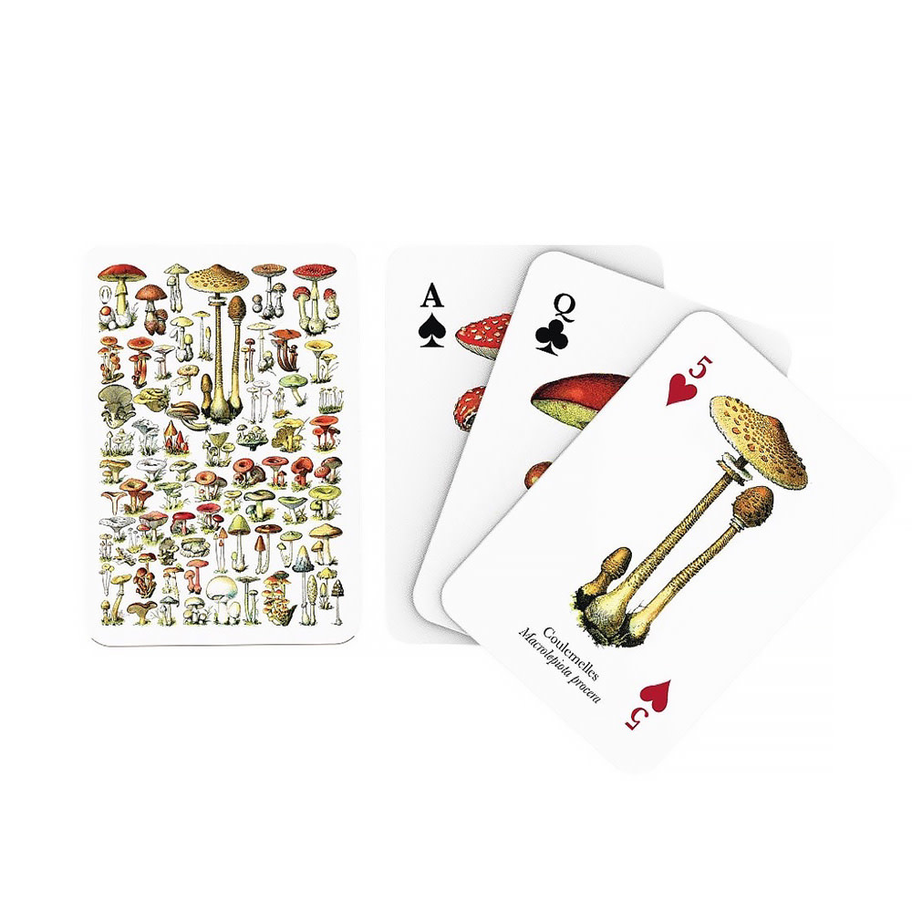 New York Puzzle Co. New York Puzzle Co - Mushroom Playing Cards