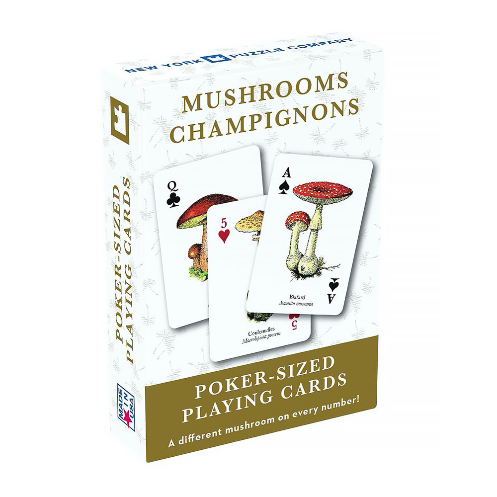 New York Puzzle Co - Mushroom Playing Cards