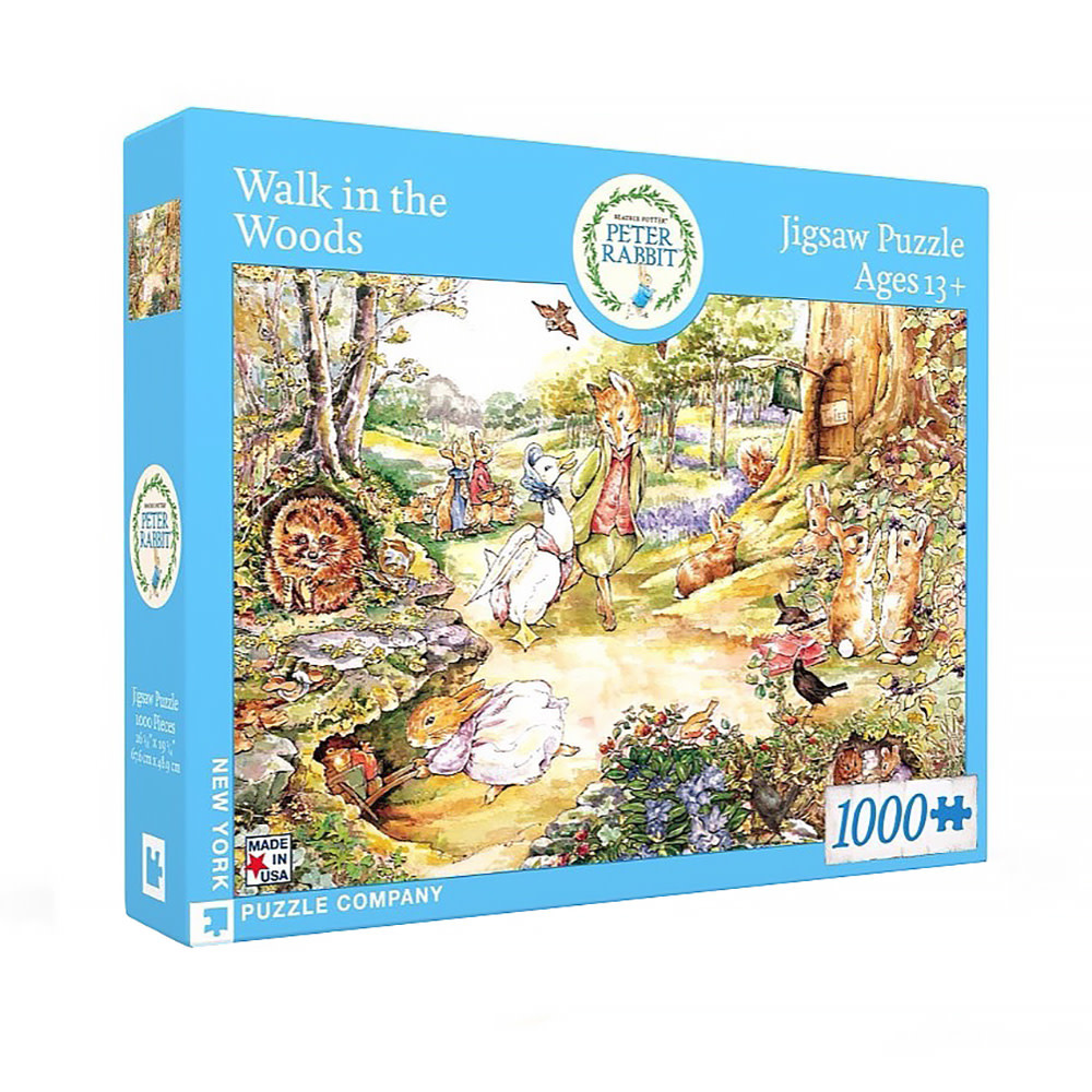 New York Puzzle Co - Walk in the Woods - 1000 Piece Jigsaw Puzzle