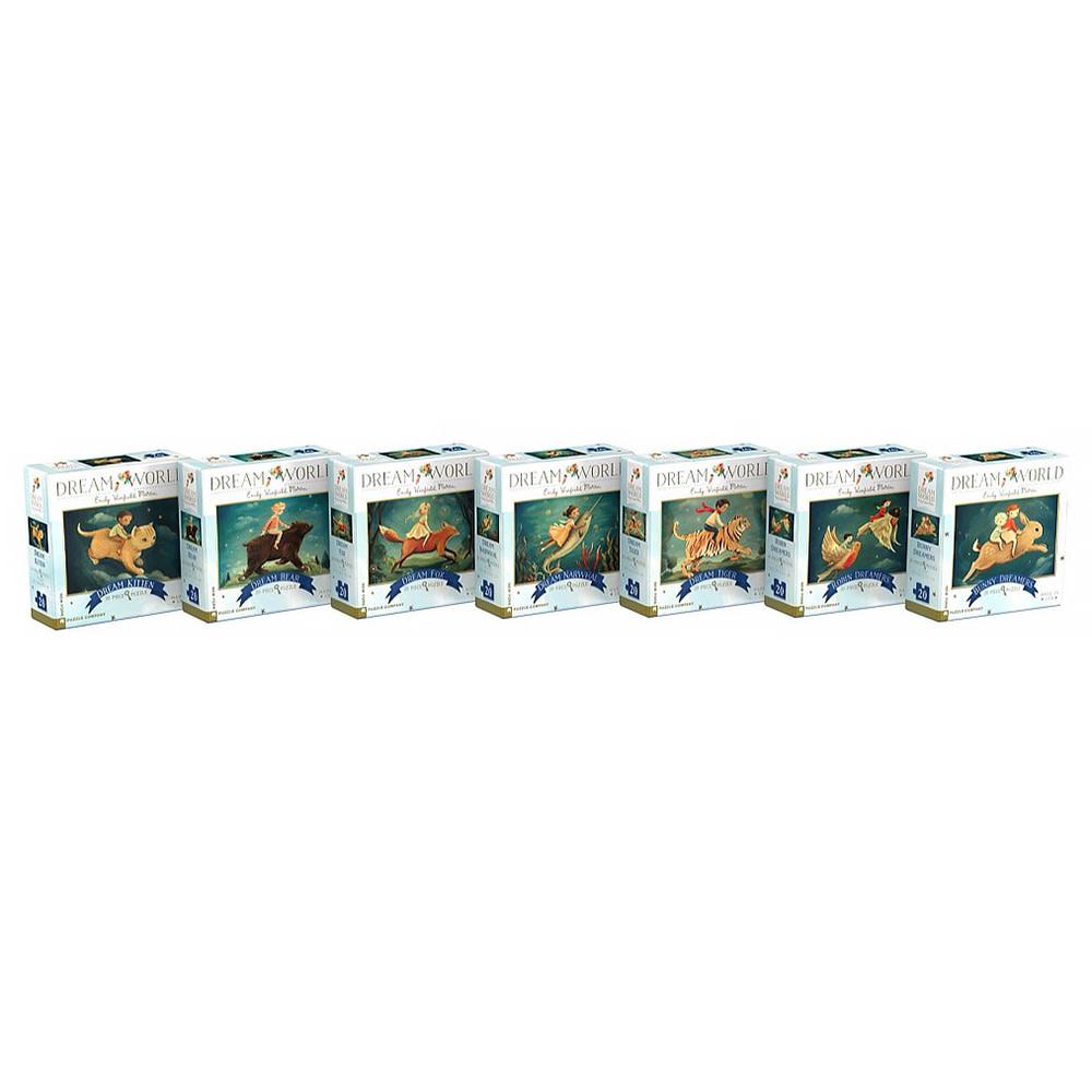 New York Puzzle Co - Dream World Mini Puzzle Collector's Set