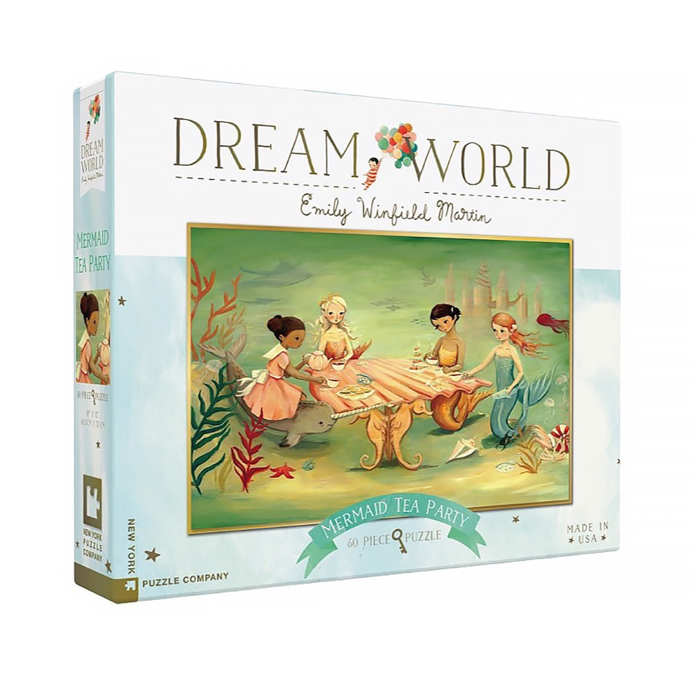 New York Puzzle Co. New York Puzzle Co - Mermaid Tea Party - 60 Piece Jigsaw Puzzle