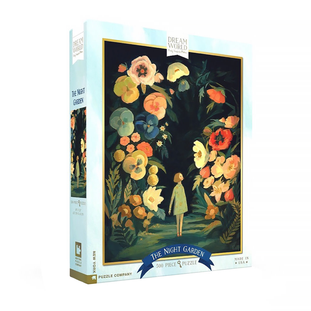 New York Puzzle Co - The Night Garden - 500 Piece Jigsaw Puzzle