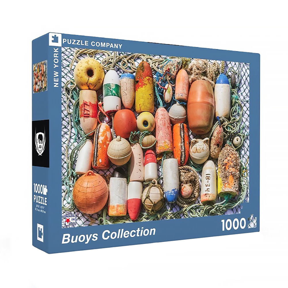 New York Puzzle Co - Buoys Collection - 1000 Piece Jigsaw Puzzle