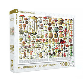 New York Puzzle Co. New York Puzzle Co - Mushrooms Champignons - 1000 Piece Jigsaw Puzzle