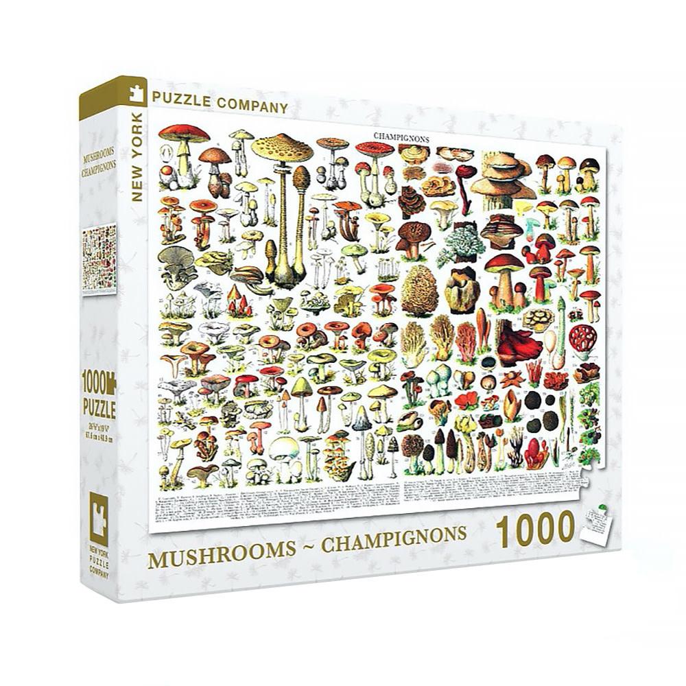 New York Puzzle Co - Mushrooms Champignons - 1000 Piece Jigsaw Puzzle