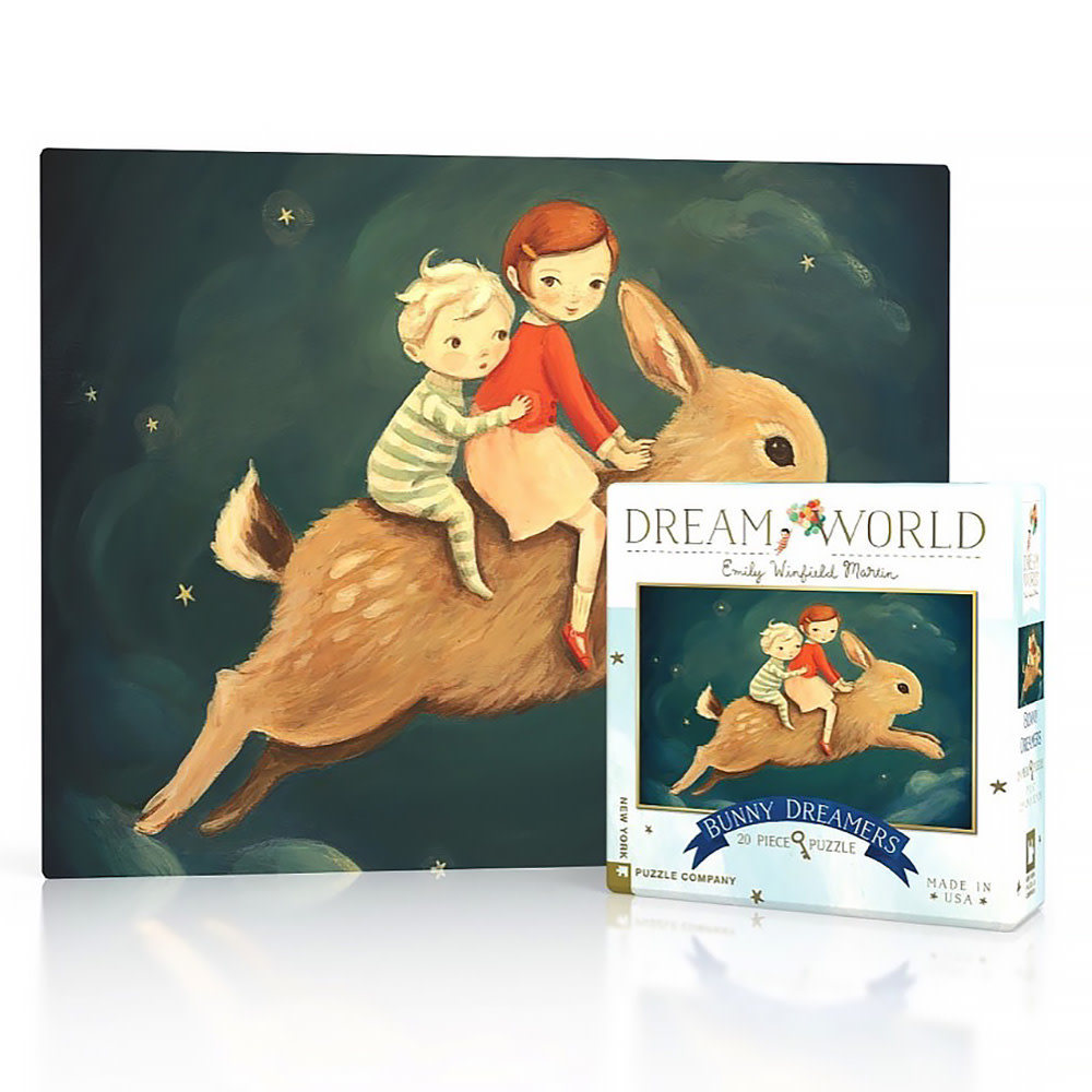 New York Puzzle Co - Bunny Dreamers - 20 Piece Mini Jigsaw Puzzle