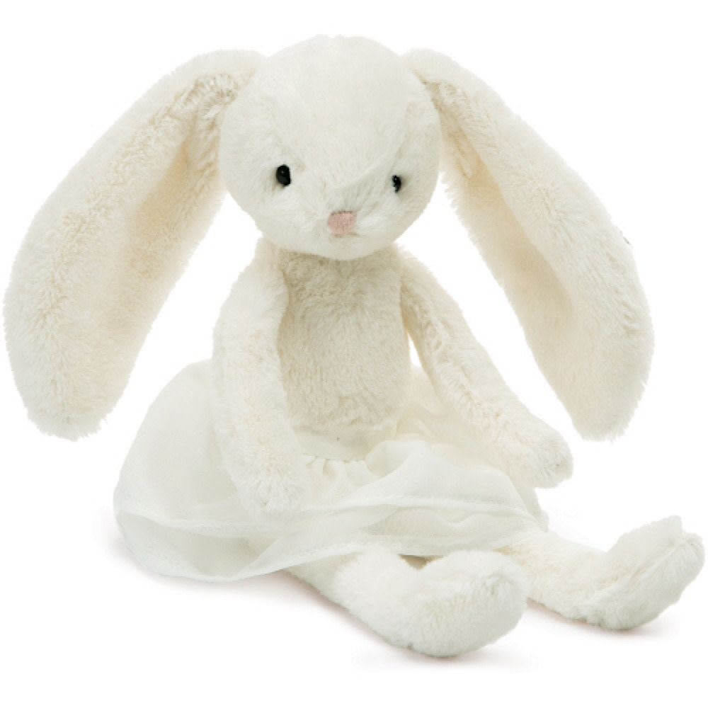 Jellycat Arabesque Bunny Cream - 8 Inches
