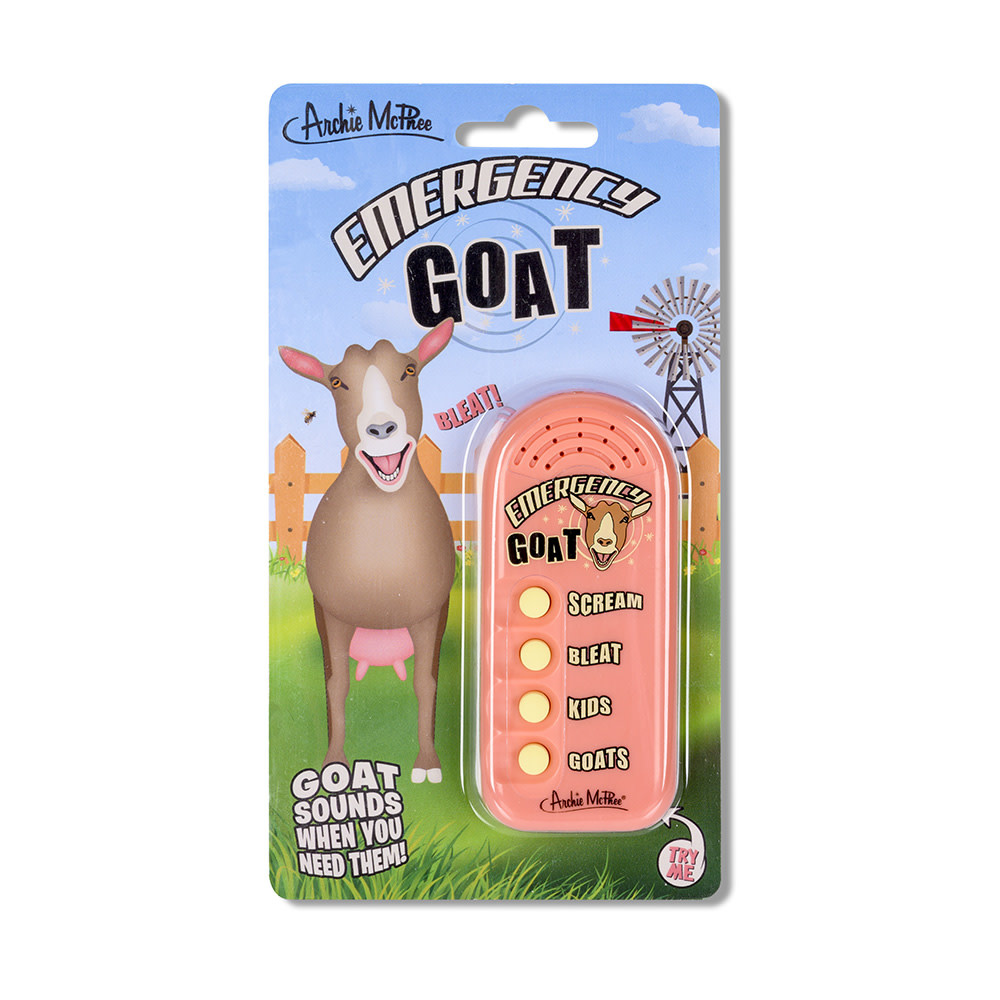 Archie McPhee Emergency Goat Button