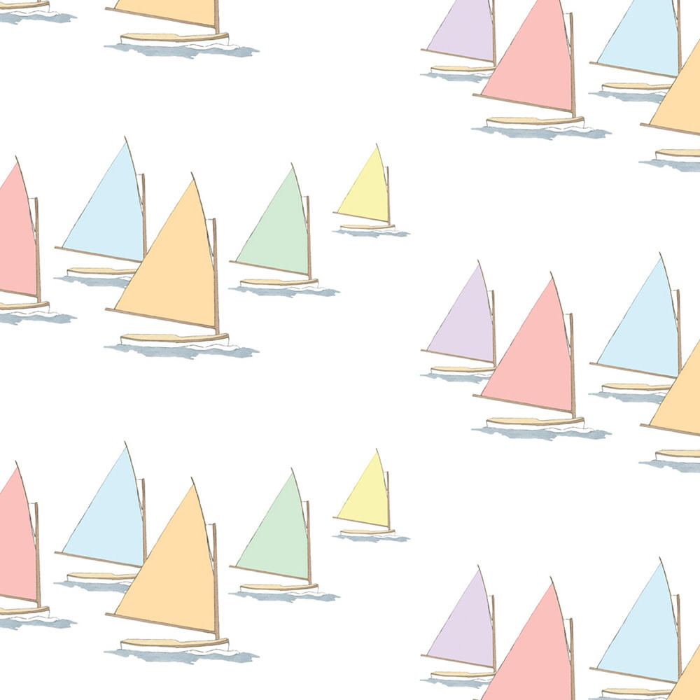 Sara Fitz Wrapping Paper - Rainbow Fleet