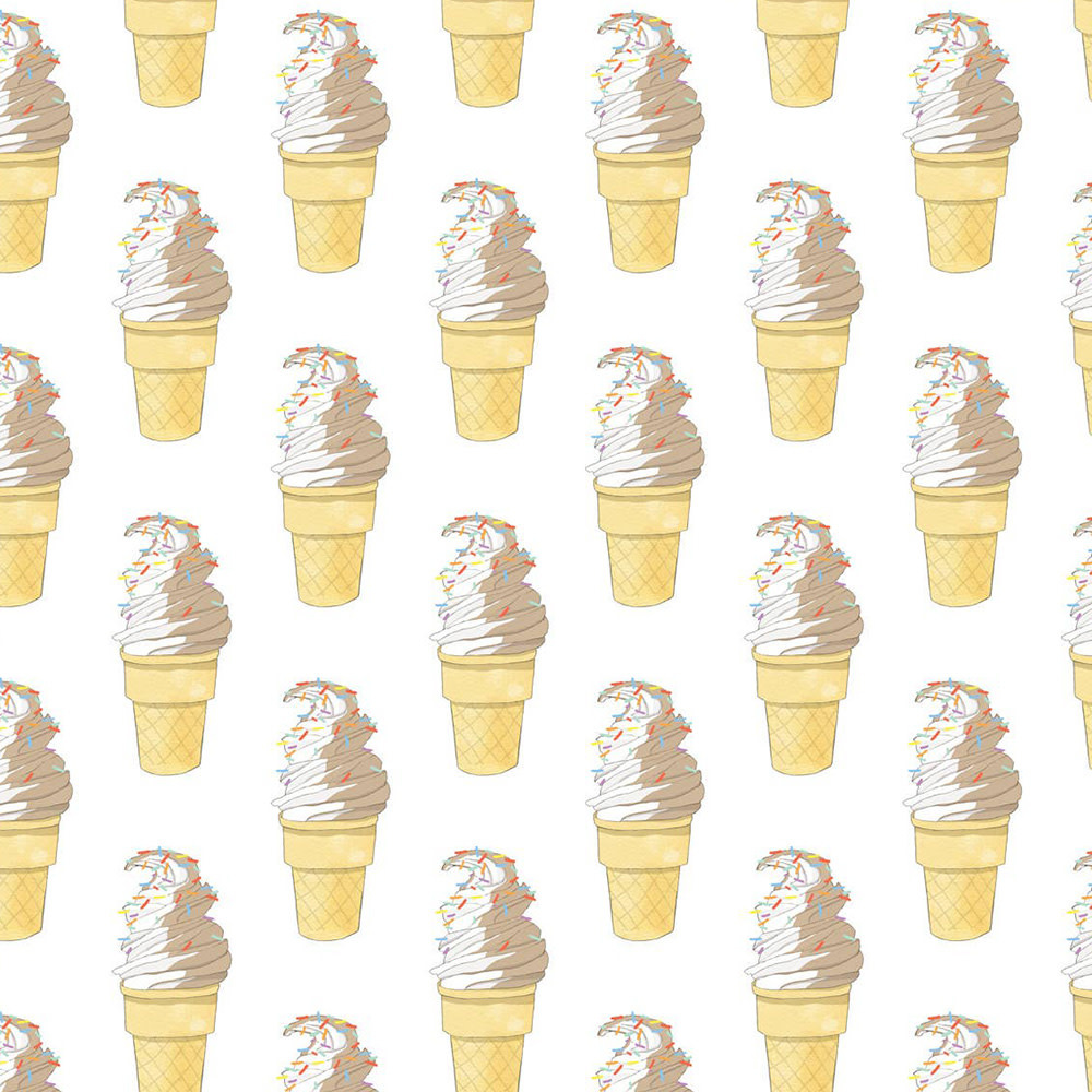 Sara Fitz Wrapping Paper - Soft Serve