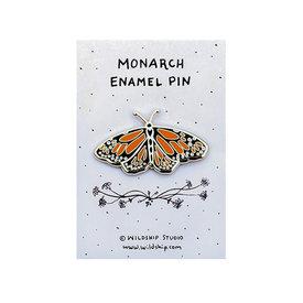 Wildship Studio Wildship Studio - Enamel Pin - Monarch Butterfly