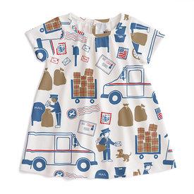 Winter Water Factory Winter Water Factory Azalea Baby Dress - Postal Service Red & Blue