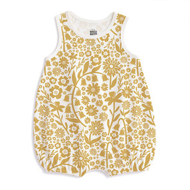 Winter Water Factory Winter Water Factory Bubble Romper - Spring Floral Yellow