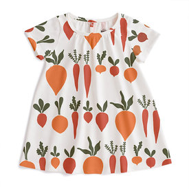 Winter Water Factory Winter Water Factory Azalea Baby Dress - Root Vegetables Natural