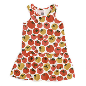 Winter Water Factory Winter Water Factory Valencia Dress - Tomatoes Red & Yellow