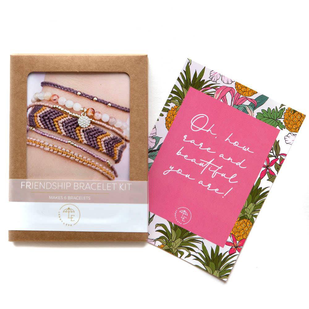 DIY Friendship Bracelets - Berry