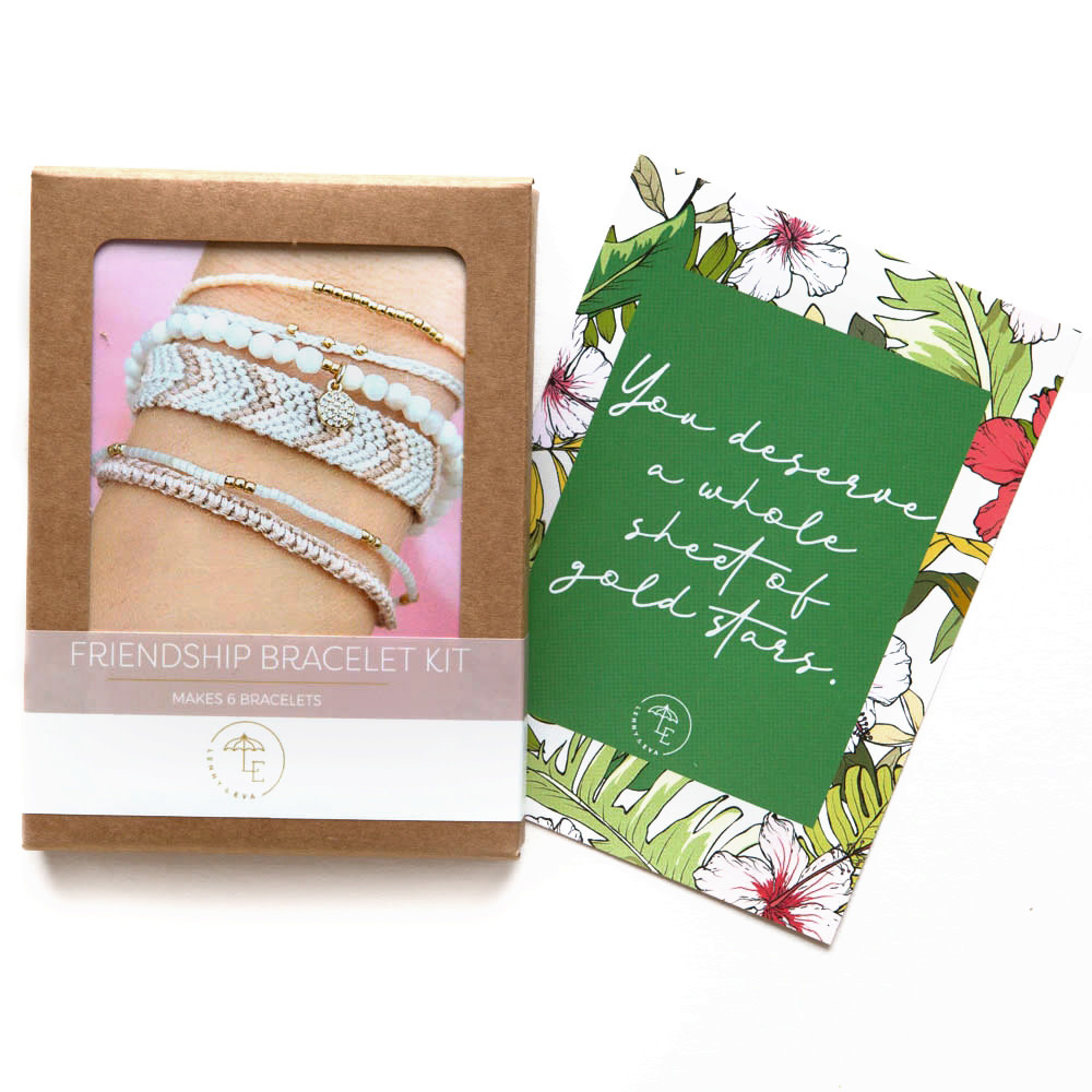 DIY Friendship Bracelets - Blush