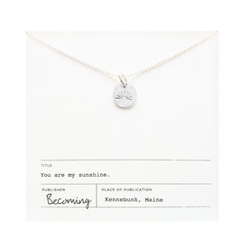 Becoming Jewelry Becoming Jewelry My Sunshine Necklace - Sterling Silver