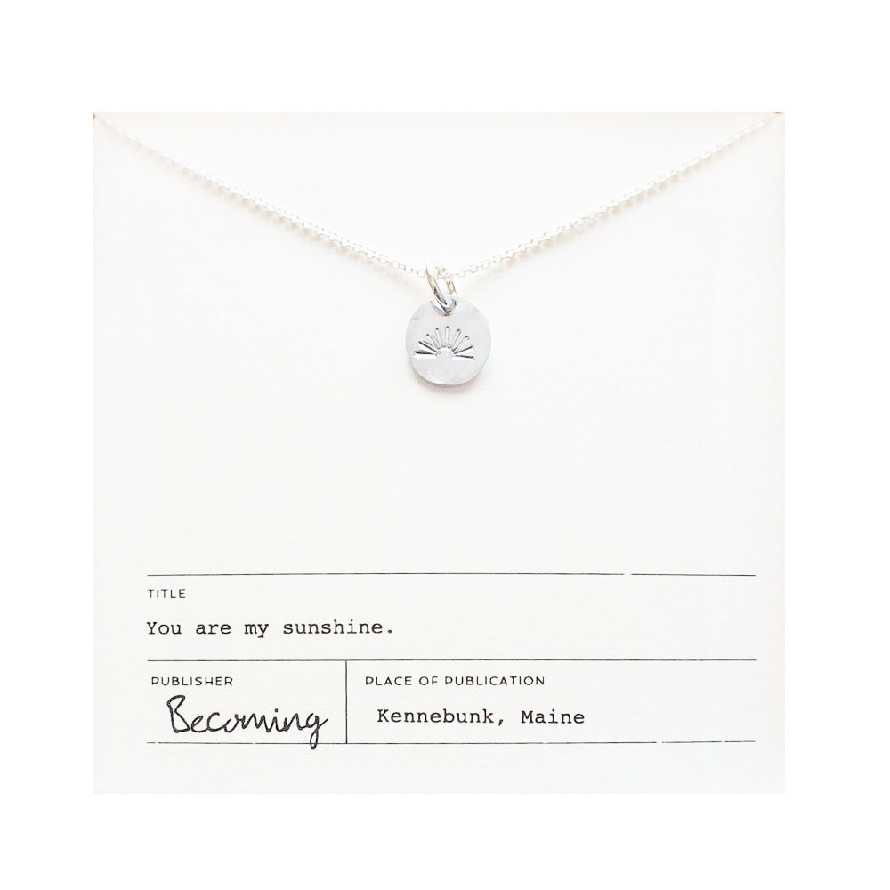 Becoming Jewelry My Sunshine Necklace - Sterling Silver