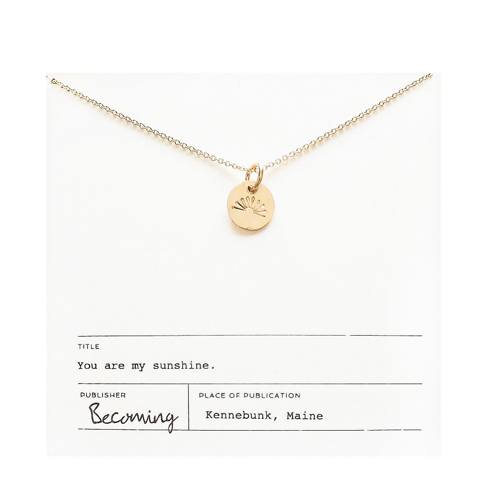 Becoming Jewelry My Sunshine Necklace - Gold-fill