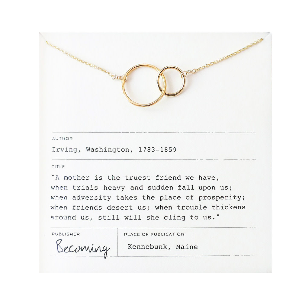 Becoming Jewelry Becoming Jewelry Mother Necklace - Gold-fill