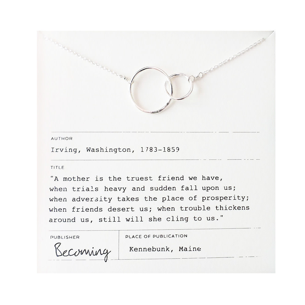 Becoming Jewelry Mother Necklace - Sterling Silver